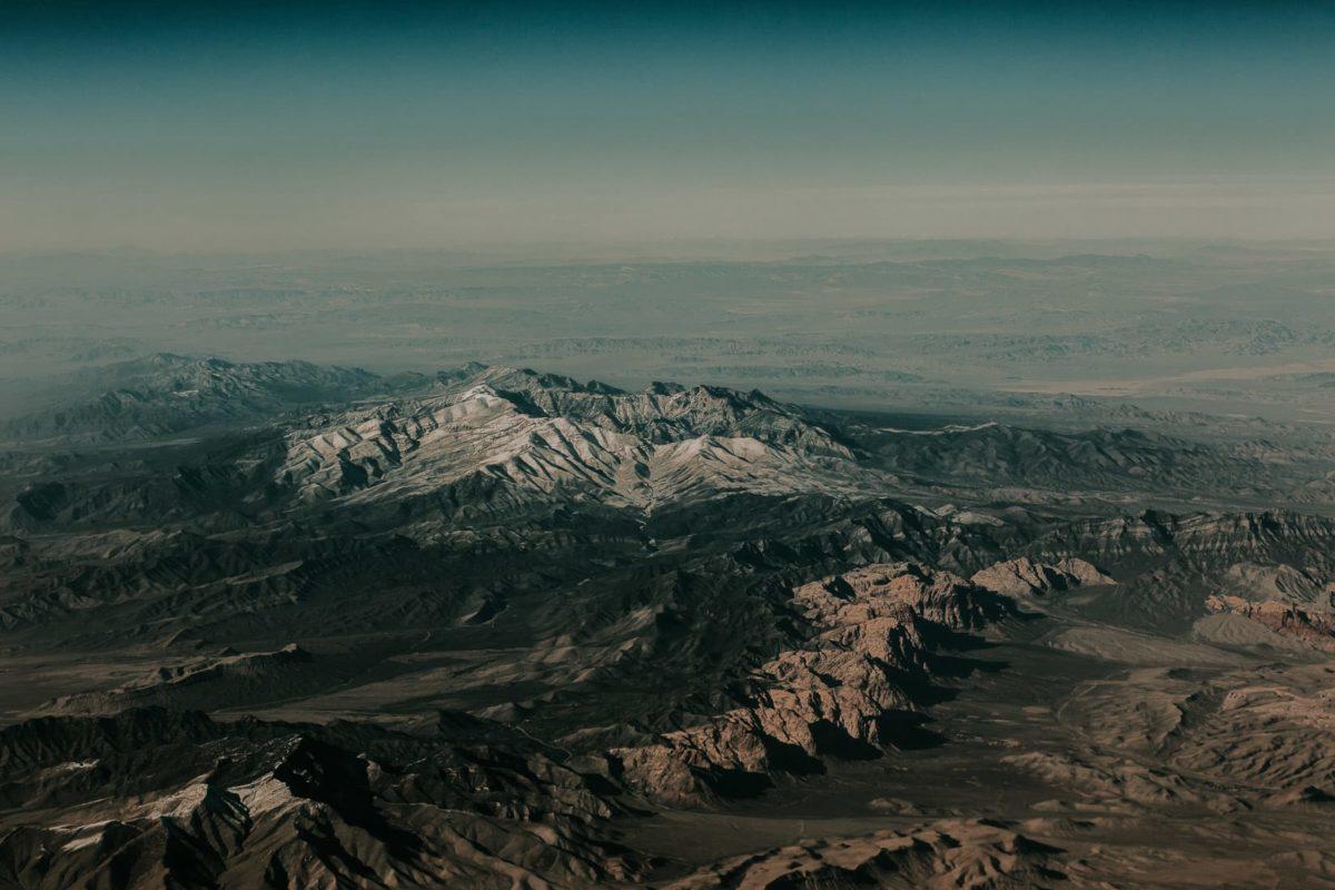 San Gorgonio Mountain, California, USA view from plane