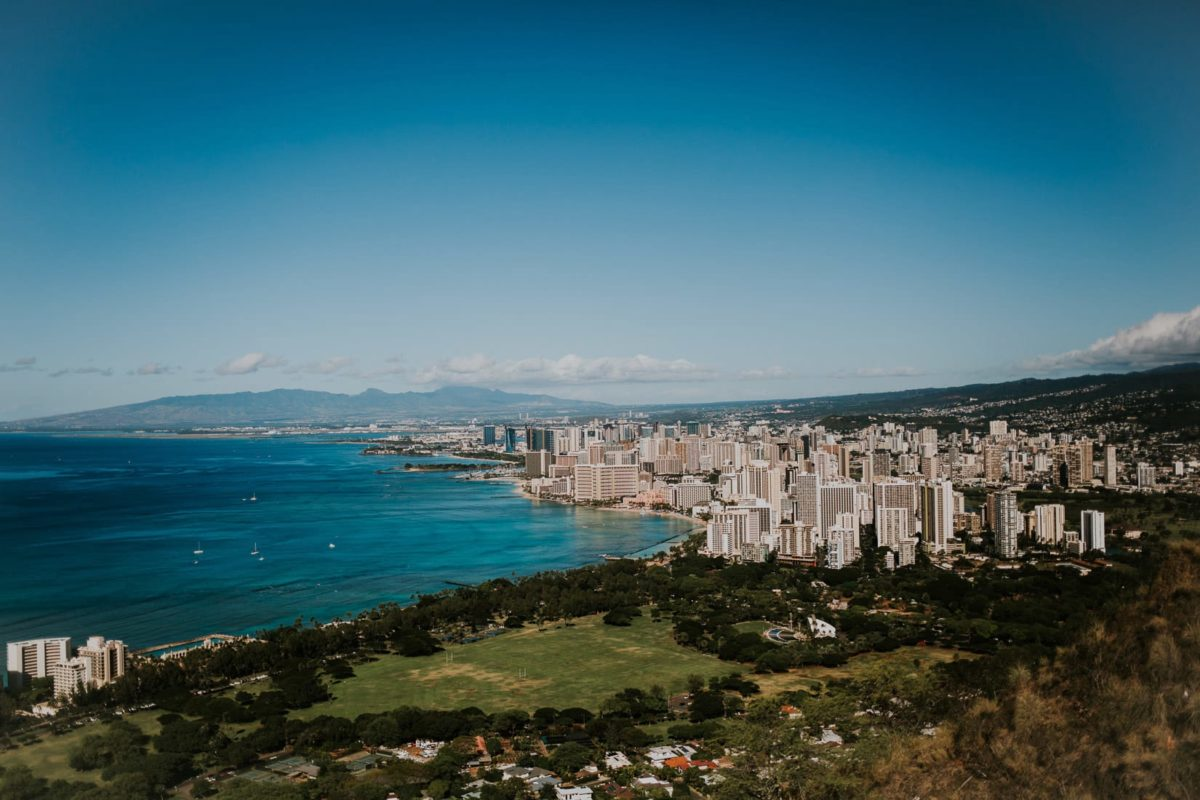 Diamond Head, Waikiki Beach , Hawaje 2017, Hawaii, Oahu, Honolulu